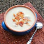 Creamy Cauliflower Soup with Crispy Prosciutto & long winter ahead