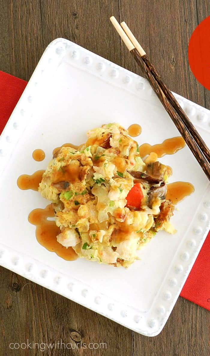 Egg Foo Young is similar to an Italian Fritatta, or a giant omelette! cookingwithcurls.com