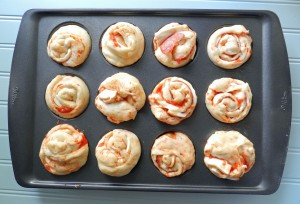 Pepperoni Pizza Muffins rise cookingwithcurls.com