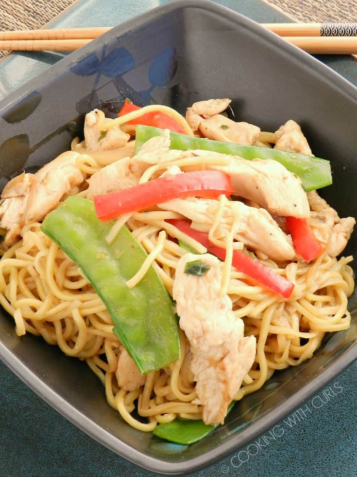 Skip the takeout and make your own Chicken Chow Mein at home in less time than you would expect! © COOKING WITH CURLS