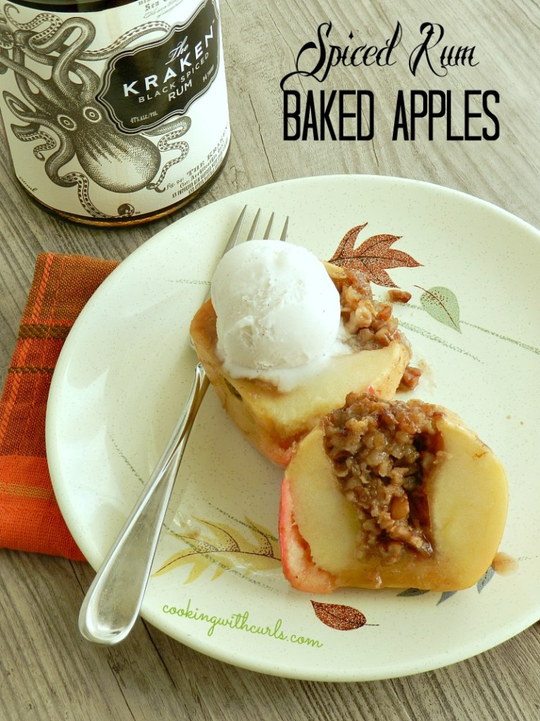 Spiced Rum Baked Apples by cookingwithcurls.com