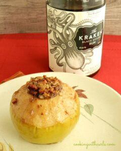 Spiced Rum Baked Apples & spiked!recipe challenge - Cooking With Curls