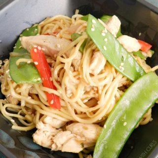 This Chicken Chow Mein made with noodles and fresh vegetables will have you skipping the takeout menu! © COOKING WITH CURLS
