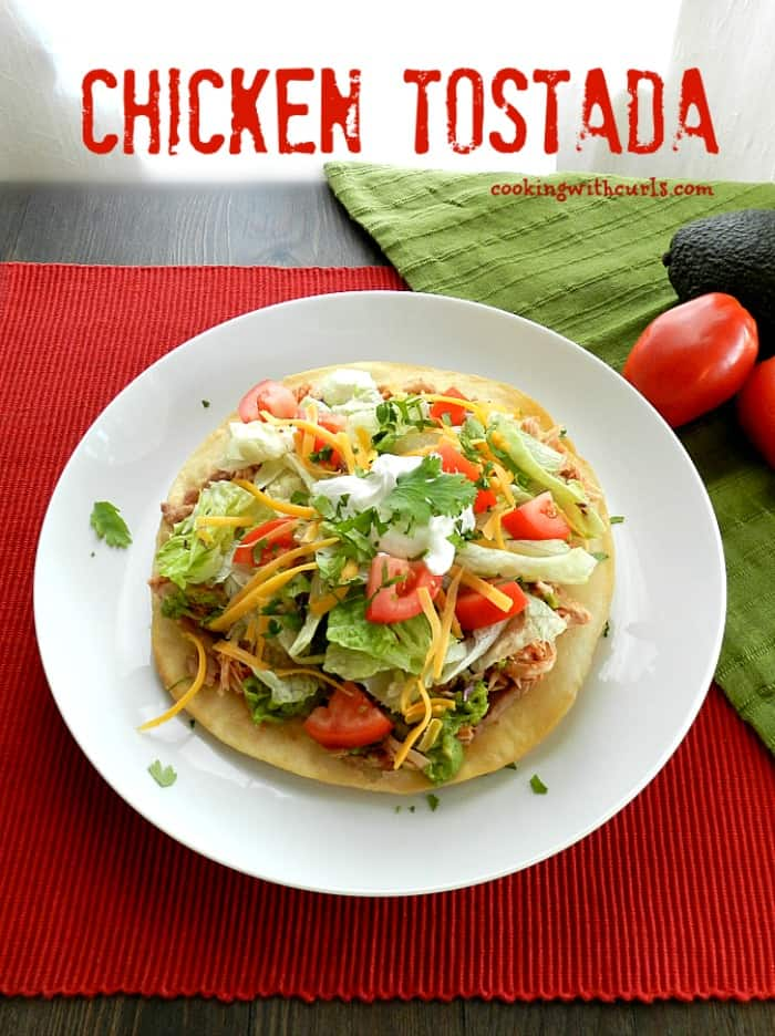 Chicken Tostadas cookingwithcurls.com