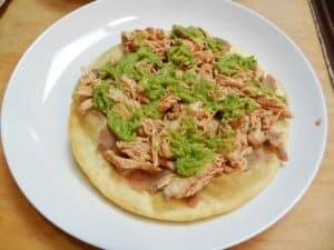 Chicken Tostadas guacamole cookingwithcurls.com