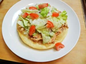 Chicken Tostadas lettuce cookingwithcurls.com