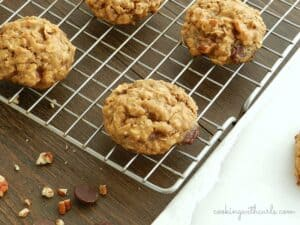 Chocolate Chip Oatmeal Pecan Cookies Vegan by cookingwithcurls.com