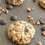 Chocolate Chip Oatmeal Pecan Cookies aka Healthy Cookies are soft and delicious! cookingwithcurls.com
