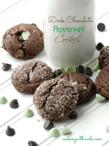 Dark Chocolate Peppermint Cookies cookingwithcurls.com