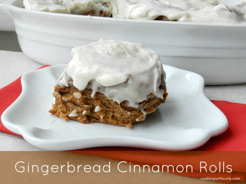 Gingerbread Cinnamon Rolls cookingwithcurls.com #cookingwithastrology #Capricorn