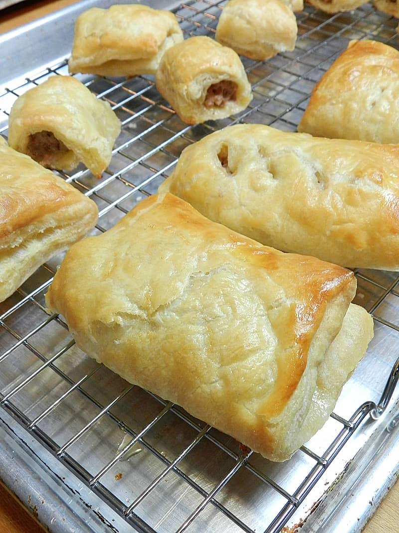 Sausage Rolls rack cookingwithcurls.com