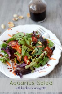 Aquarius Salad with Blueberry Vinaigrette