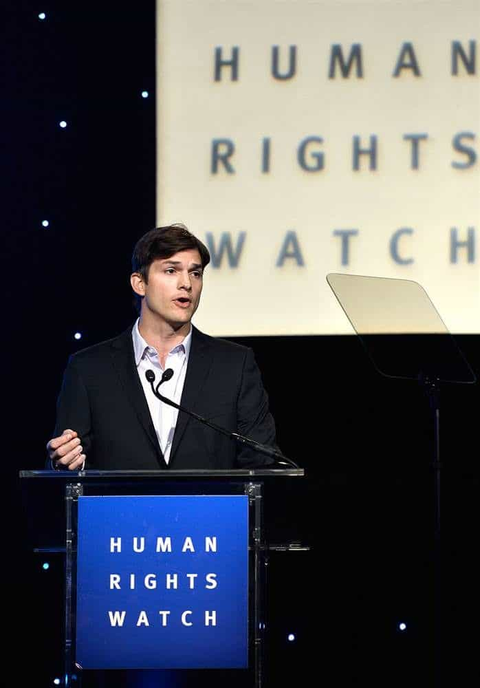Ashton Kutcher Human Rights Watch