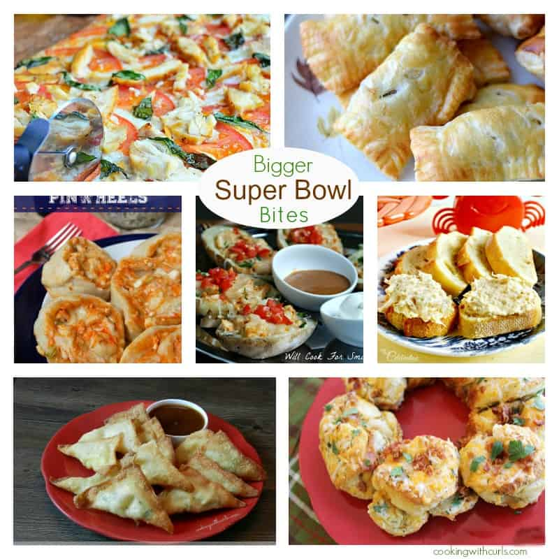 Bigger Super Bowl Bites Collage cookingwithcurls.com