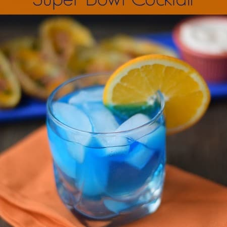 Broncos Super Bowl Cocktail cookingwithcurls.com