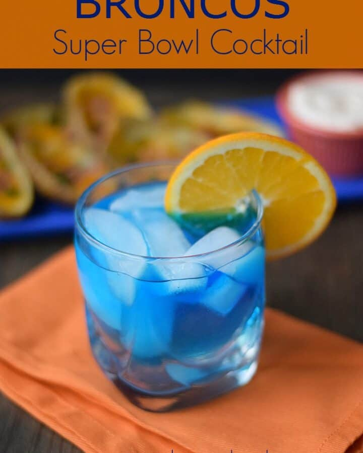 Broncos Super Bowl Cocktail cookingwithcurls.com