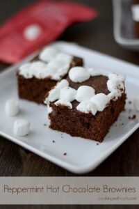 Peppermint Hot Chocolate Brownies