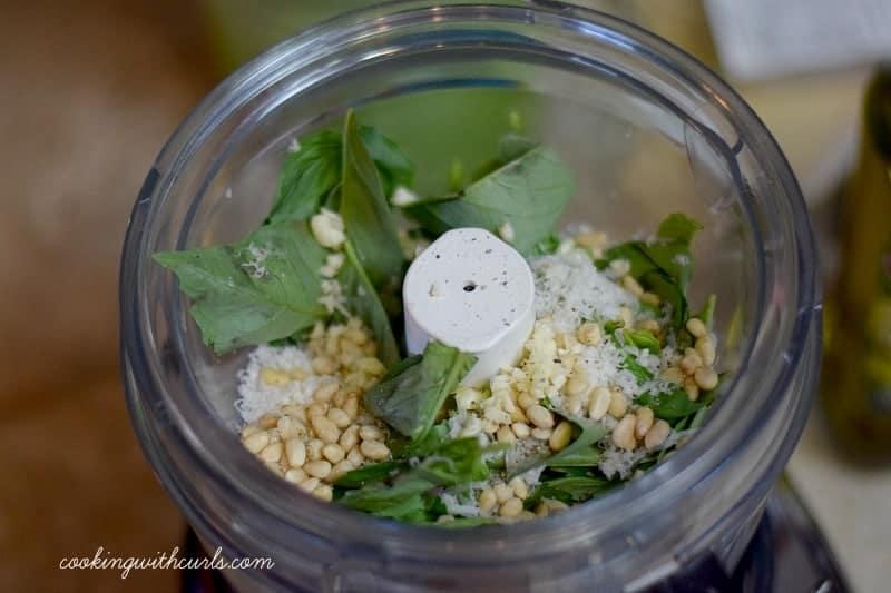 Shrimp Pesto basil cookingwithcurls.com