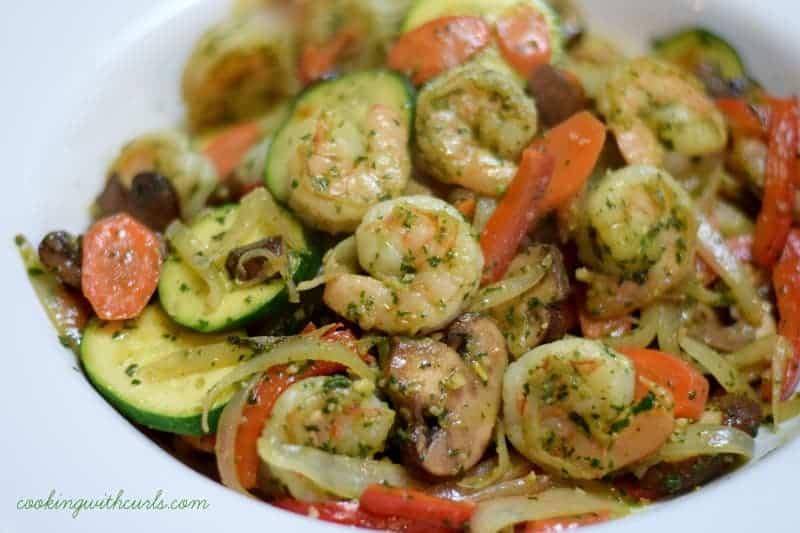 Shrimp Pesto from cookingwithcurls.com