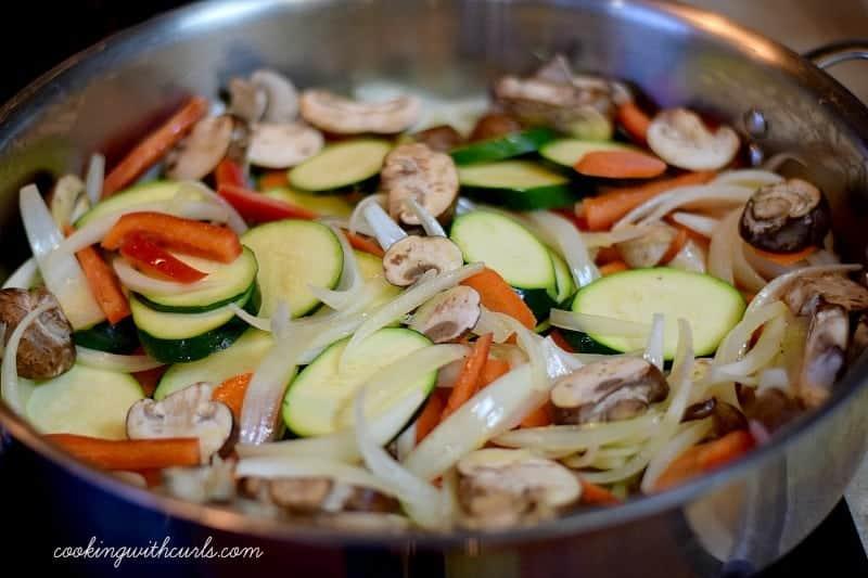 Shrimp Pesto veggies cookingwithcurls.com