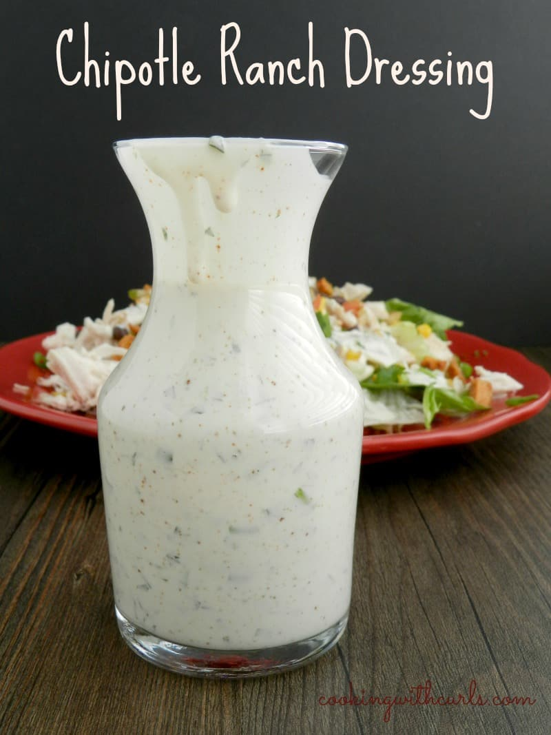 Chipotle Ranch Dressing in a glass serving container