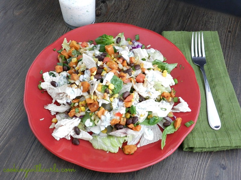 Southwest Chicken Salad Fall by cookingwithcurls.com