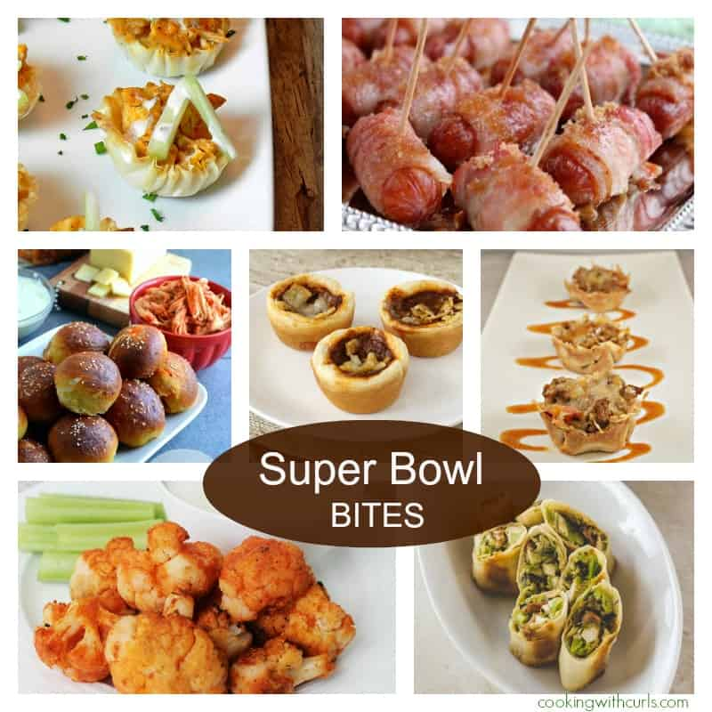 Super Bowl Bites Collage cookingwithcurls.com