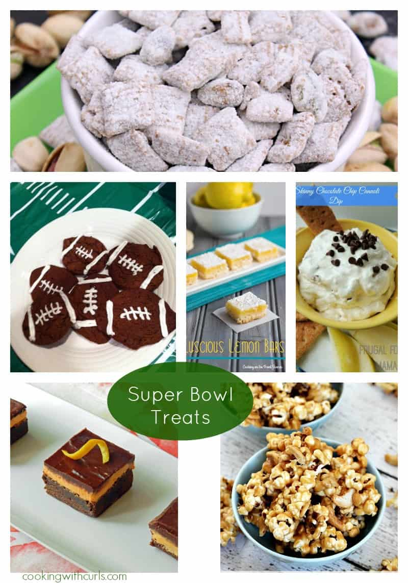 Super Bowl Treats Collage cookingwithcurls.com