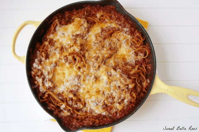 one skillet spaghetti by sweetbellaroos.com