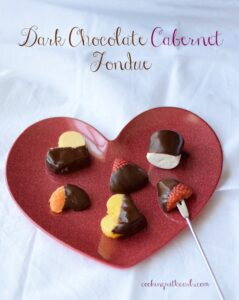 Dark Chocolate Cabernet Fondue