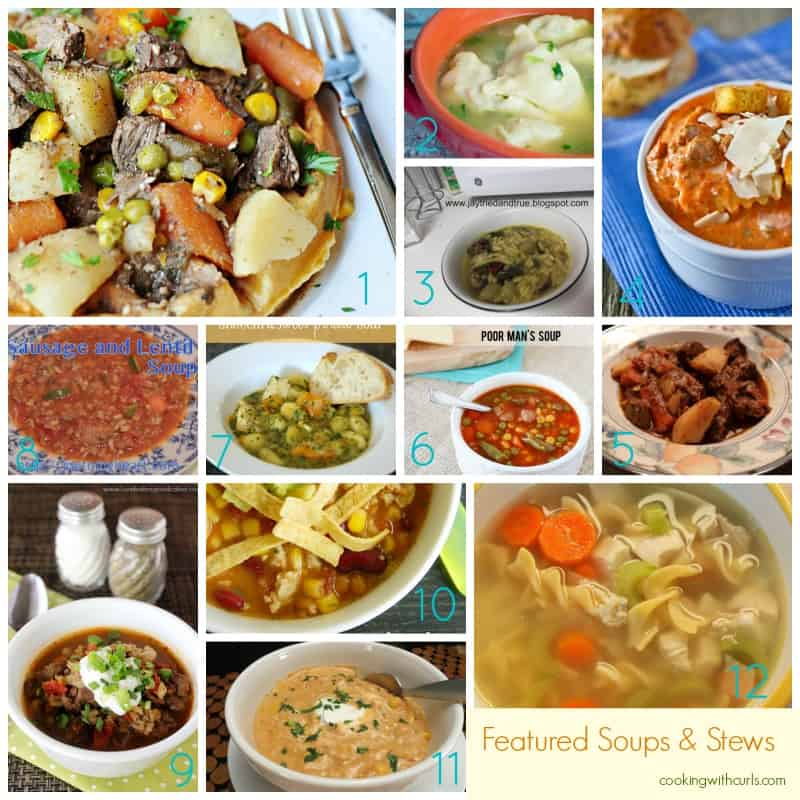 Featured Soups and Stews Best of the Weekend Collage cookingwithcurls.com