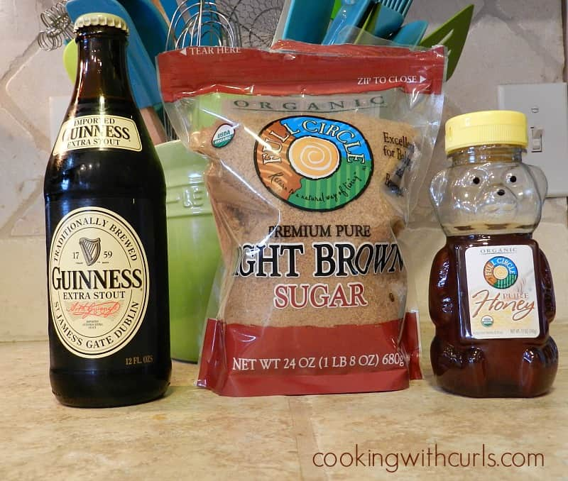 Guinness Glaze ingredients cookingwithcurls.com