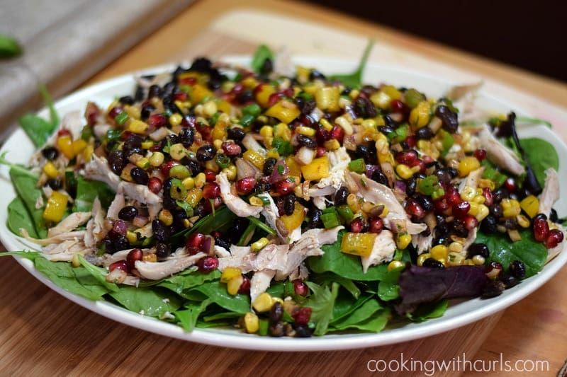 Southwest Chicken Salad for Winter on a serving platter
