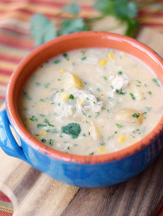 Southwest Crab Chowder | cookingwithcurls.com