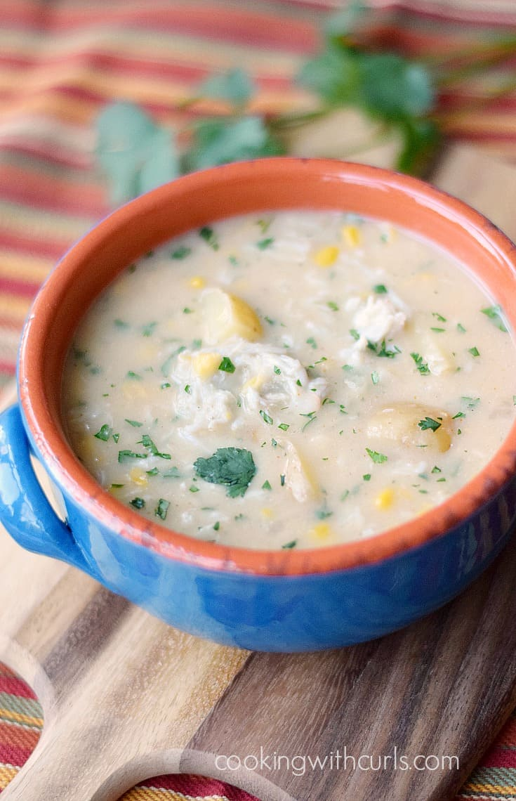 Southwest Crab Chowder | cookingwithcurls.com