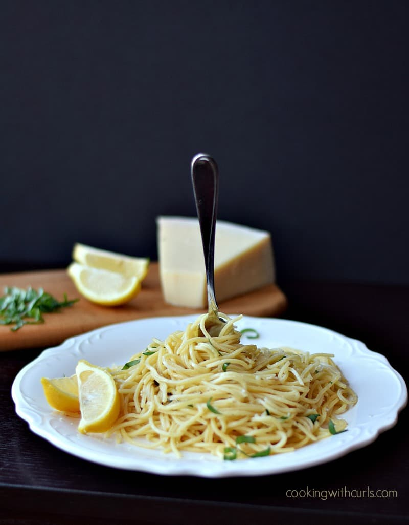 Spaghetti al Limone by cookingwithcurls.com