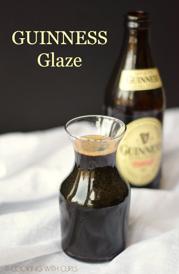 Thick and tangy Guinness Glaze is perfect on burgers, salmon, chicken and shrimp! cookingwithcurls.com