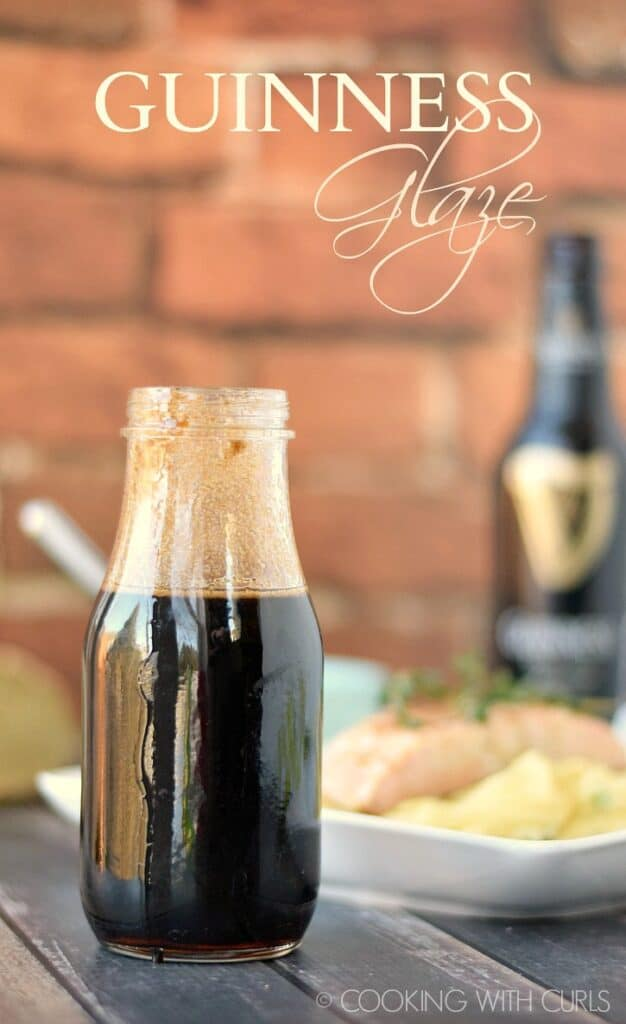 This sweet and tangy Guinness Glaze is the perfect way to finish off burgers, salmon, shrimp and chicken any time of the year! cookingwithcurls.com