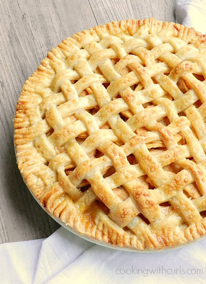 Flaky pastry surrounds this delicious Lattice Top Apple Pie