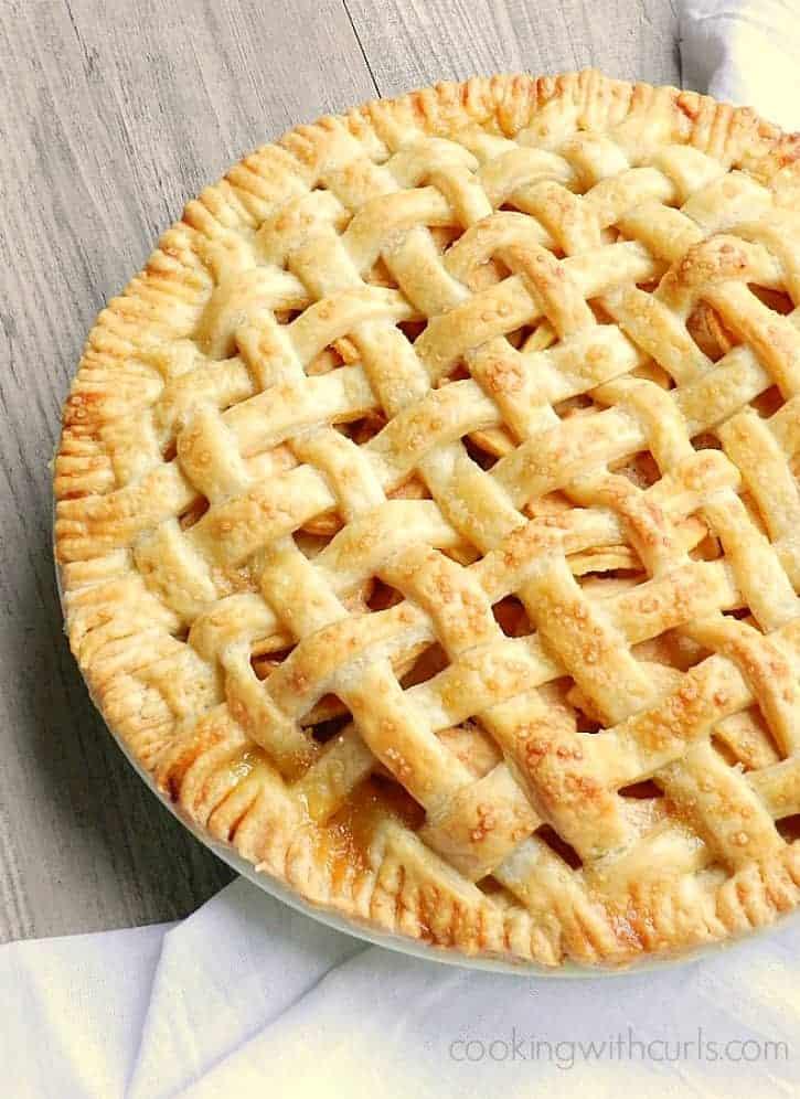Flaky pastry surrounds this delicious Lattice Top Apple Pie