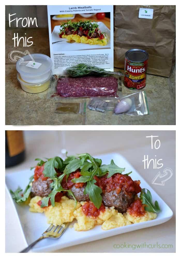 Lamb Meatballs with Creamy Polenta and Ragout Collage cookingwithcurls.com