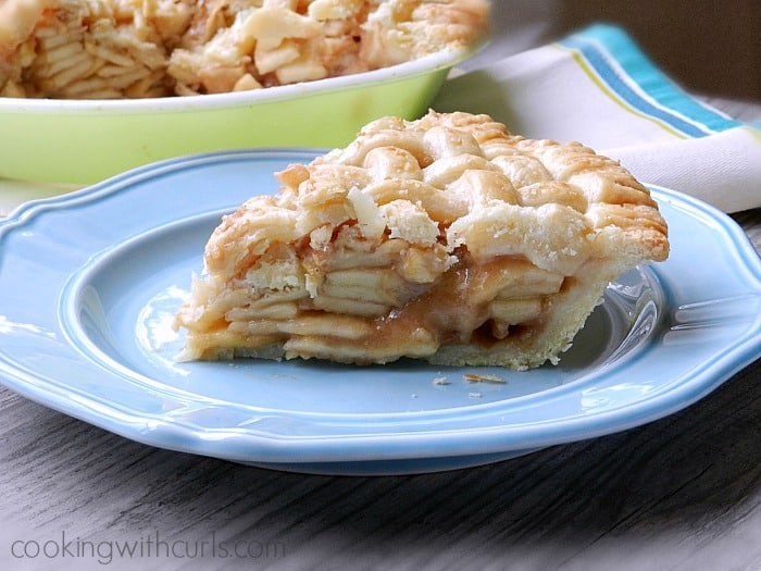 Lattice Top Apple Pie by cookingwithcurls.com #piday
