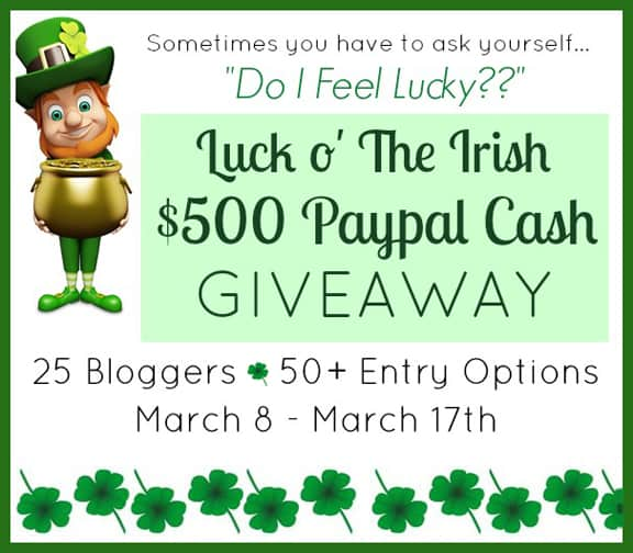 Luck O The Irish Giveaway
