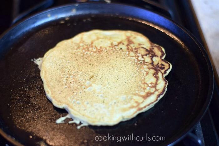 Matcha Pancakes flip cookingwithcurls.com