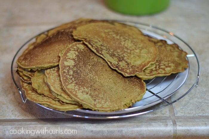 Matcha Pancakes stack cookingwithcurls.com