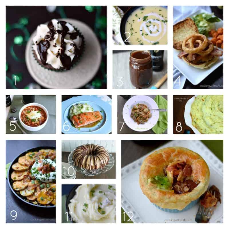My Irish Favorites at cookingwithcurls.com #stpatricksday