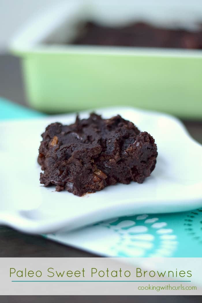 Paleo Sweet Potato Brownies #GYCO by cookingwithcurls.com