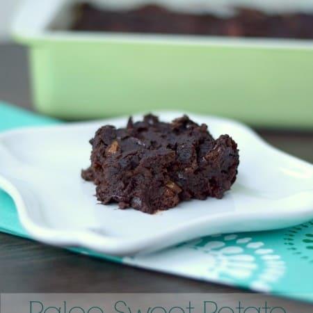 Paleo Sweet Potato Brownies cookingwithcurlsc.om #GYCO