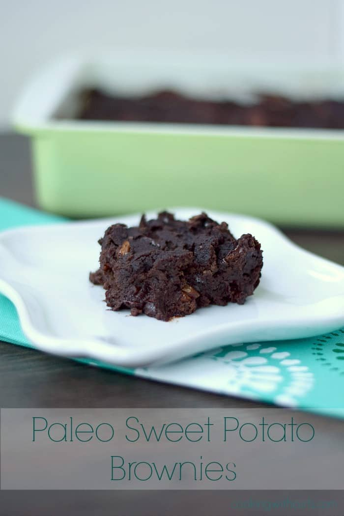 Paleo Sweet Potato Brownies cookingwithcurlsc.om #GYCO
