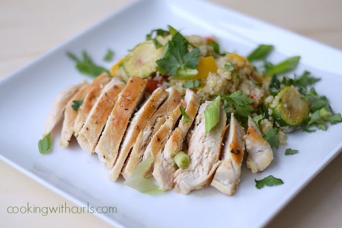 Relished Quinoa with Roasted Vegetable Salad and Chicken cookingwithcurls.com
